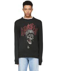 R13 - Black Battle Punk Vintage Sweatshirt - Lyst