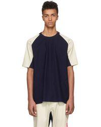 Y-3 - Indigo James Harden Satin T-shirt - Lyst