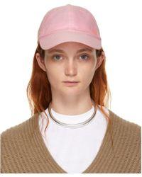 Acne Studios - Pink Carlo Face Cap - Lyst
