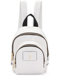 Marc Jacobs - White Mini Double Backpack - Lyst