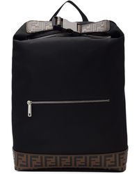 713bb04f0ce Fendi - Sac a dos noir Forever Rolled Clip - Lyst