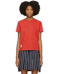 Thom Browne - Red Classic Pique Relaxed T-shirt - Lyst