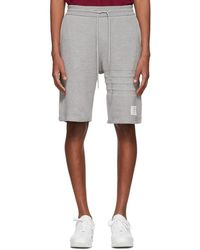 Thom Browne - Grey Chunky Honeycomb Pique 4-bar Shorts - Lyst