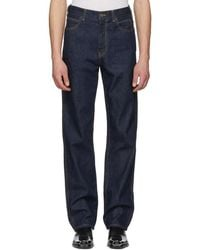 CALVIN KLEIN 205W39NYC - Blue Oversize Jeans - Lyst