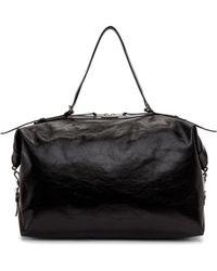 Saint Laurent | Black Large Id Duffle Bag | Lyst