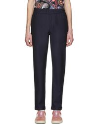 PS by Paul Smith | Navy Drawcord Trousers | Lyst