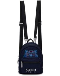 KENZO - Navy Mini Tiger Backpack - Lyst