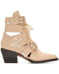 Chloé - Pink Rylee Medium Boots - Lyst