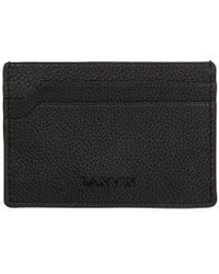 Lanvin - Black Pebbled Card Holder - Lyst