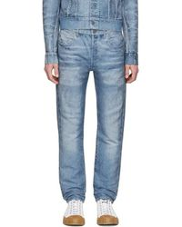 CALVIN KLEIN 205W39NYC - Blue Distressed Jeans - Lyst