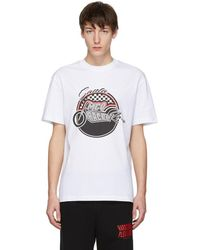 McQ - White Racing Dropped Shoulder T-shirt - Lyst