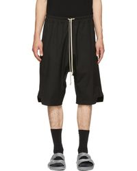 Rick Owens - Black Patagonia Basket Swinger Shorts - Lyst