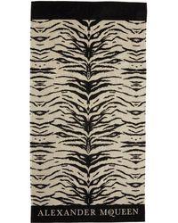 Alexander McQueen - Beige & Black Leopard Towel - Lyst
