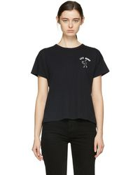Rag & Bone - Black Lets Dance T-shirt - Lyst