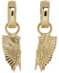 Marcelo Burlon Gold Wings Earrings - Metallic