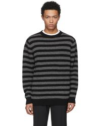 The Elder Statesman - Grey And Black Inch Stripe Sweater - Lyst