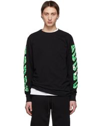 c55ddd1065dded Off-White c o Virgil Abloh - Ssense Exclusive Black Diag Arrows Long Sleeve