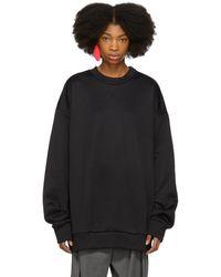 Marques'Almeida - Black Oversized Sweatshirt Dress - Lyst