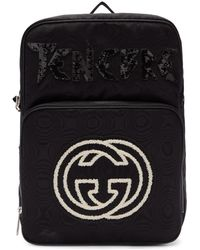 Gucci - Black Tenebre Patch Backpack - Lyst