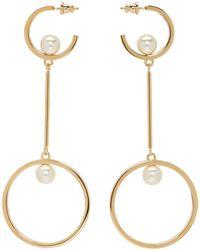 Chloé - Gold And Pearl Darcey Hoop Earrings - Lyst