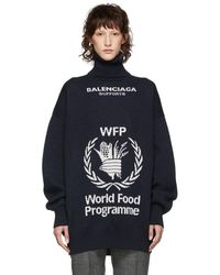 Balenciaga - Navy World Food Programme Turtleneck - Lyst