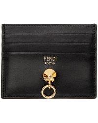 Fendi - Black By The Way Ring Cardholder - Lyst