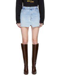 Vetements - Blue Denim Jeans Miniskirt - Lyst