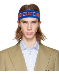 6c8dc995f Gucci Elastic Stripe Headband for Men - Lyst