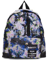 MSGM - Multicolor Eastpak Edition Flowers Backpack - Lyst