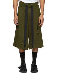 Marques'Almeida - Khaki Tracksuit Shorts - Lyst