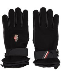 Moncler Grenoble - Leather And Canvas Ski Gloves - Lyst