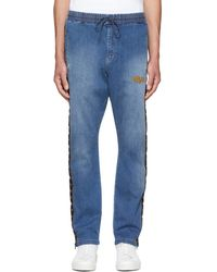 Wheir Bobson - Blue Denim Side Line Track Pants - Lyst