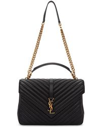 Saint Laurent - Black Large University Chain Bag - Lyst