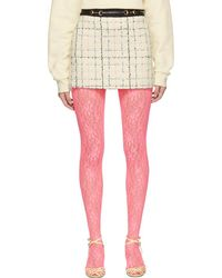Gucci - Off-white And Pink Miniskirt - Lyst