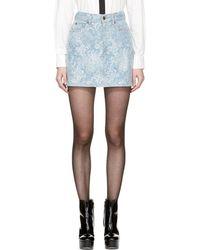 Marc Jacobs - Purple Embellished Denim Miniskirt - Lyst