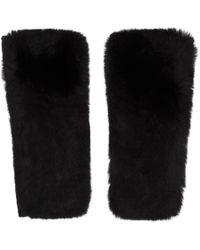 Yves Salomon - Black Cashmere & Fur Mittens - Lyst