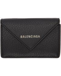 Balenciaga | Black Mini Papier Wallet | Lyst