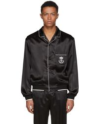 Dolce & Gabbana - Black Silk Pyjama Shirt - Lyst