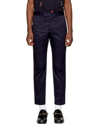 Gucci - Navy Formal 60's Trousers - Lyst