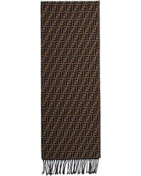Fendi - Foulard brun et noir Forever - Lyst