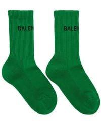 Balenciaga - Green New Logo Tennis Socks - Lyst