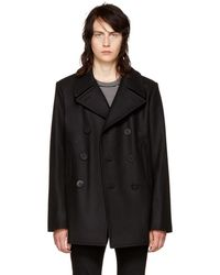 Saint Laurent - Black Classic Peacoat - Lyst