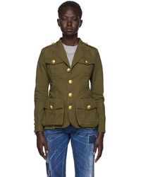 DSquared² - Green Ripstop Military Jacket - Lyst
