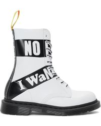 Dr. Martens - Bottes blanches 1490 edition Sex Pistols - Lyst