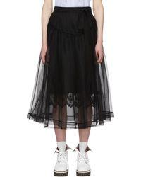 Simone Rocha - Black Bow Belt Tulle Skirt - Lyst