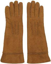 Isabel Marant - Tan Shearling Gloves - Lyst