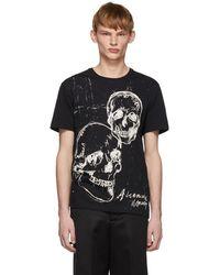 Alexander McQueen - Black Graffiti Skull T-shirt - Lyst