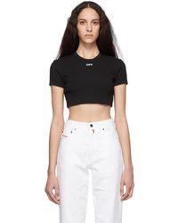 Off-White c/o Virgil Abloh Black Cropped Tiny T-shirt