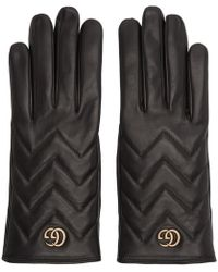 Gucci - Black GG Marmont Gloves - Lyst