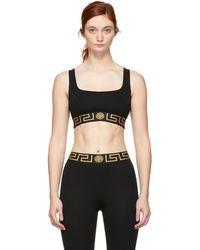 Versace - Black Sporty Bra - Lyst